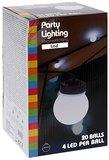 Feestverlichting 20 witte LED lampen_