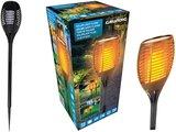 Grundig Solar LED tuinlamp met vlam-effect _