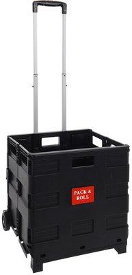 Boodschappentrolley - vouwkrat zwart - XL - 57 liter