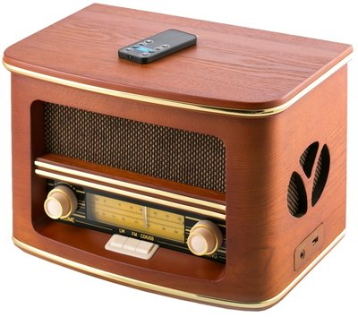 Camry CR 1109 - Retro houten radio met CD/ MP3/USB