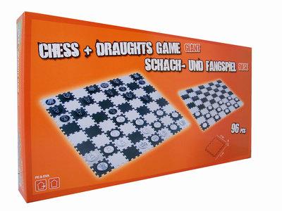 Schaak- / damspel 120x120 cm