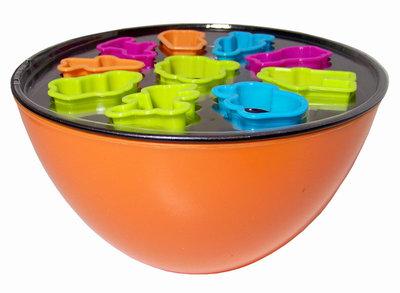 Bakset oranje (12 delig)