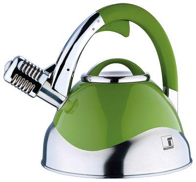 Bergner Roestvrijstalen microfoon fluitketel (3 liter) groen