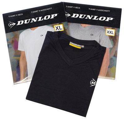 Dunlop 4-Pack T-shirt met V-hals, maat L