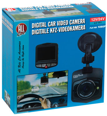 All Ride  Digitale autovideo camera, full HD 1080P