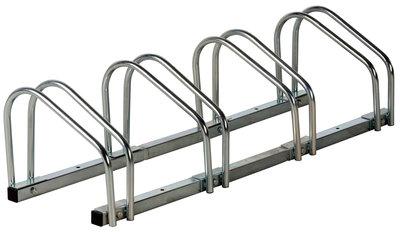 Fietsenrek voor 4 fietsen (wand- en vloerbevestiging)