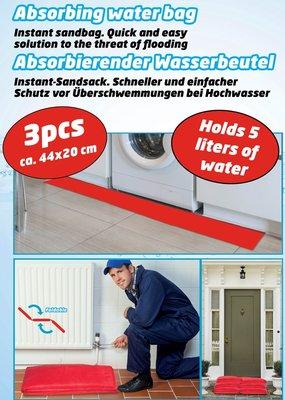 Absorberende waterzakken 44x20 - 5 Liter - 3 Pack