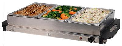 Buffetwarmer met warmhoudplaat 300W