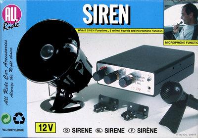 Sirene met microfoon 12V
