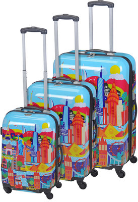 ProWorld Trolleyset ABS Cityworld (3 dlg)