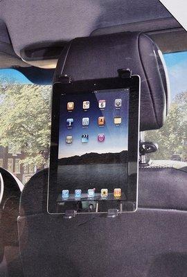 Tablet houder voor auto hoofdsteun