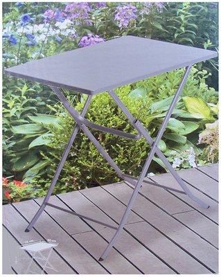 Bistrotafel vouwbaar metaal grijs 70x50cm