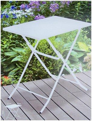 Bistrotafel vouwbaar metaal wit 70x50cm