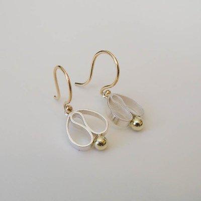 Oorhangers zilveren tulp (small)