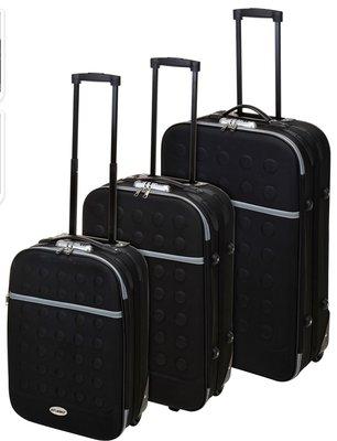 Reiskoffers met slot 3-delig zwart