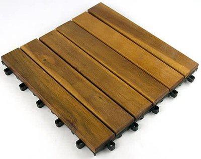 Terrastegels 4 stuks 30x30cm hardhout