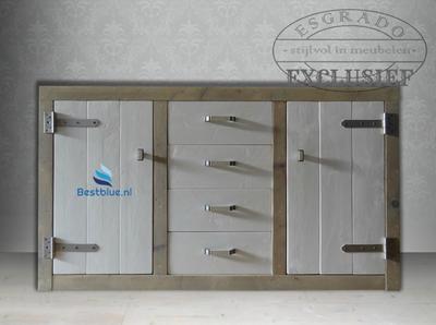Steigerhouten dressoir Exclusief Laurice