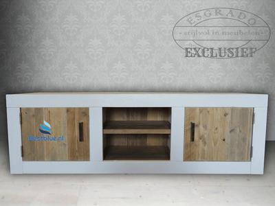 Tv-meubel Landelijk, brede witte omlijsting