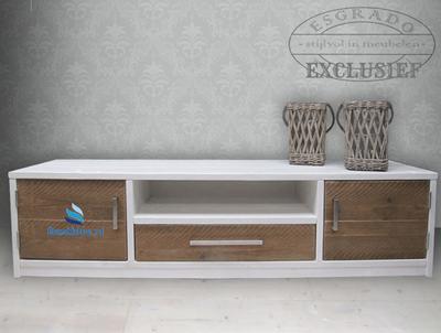Tv-meubel Landelijk, witte omlijsting