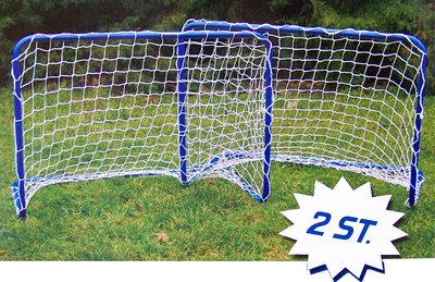 Set van 2 voetbaldoelen (78x56x45cm)