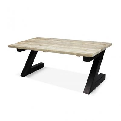 Steigerhouten tafel met metalen Z onderstel