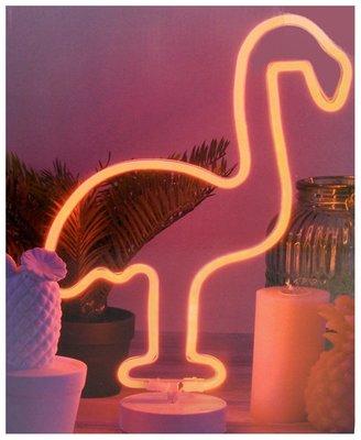 Decoratielamp flamingo - 42cm