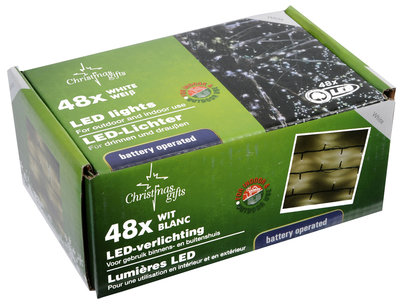 Christmas gifts LED Kerstverlichting wit (48 LED's)