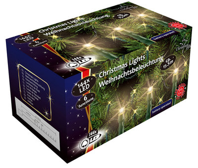 Christmas gifts LED-Kerstverlichting (144 LED's) met 6 functies