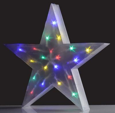 Holografische ster meerkleurig 16 LED's