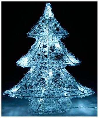 Acryl kerstboom  25cm met 16 LED's
