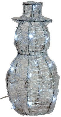 Acryl sneeuwman 25cm met 16 LED's
