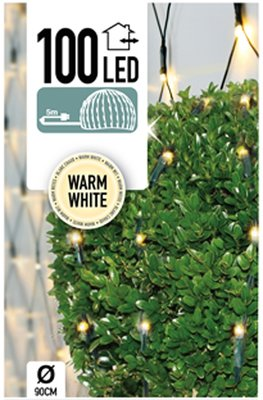 Buxus Netverlichting 100 LED's warm wit