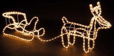 3D Rendier met Slee lichtslang (324 Lampjes)