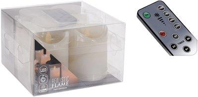 Wax LED-kaarsen ivoor dansende vlam - Set van 4