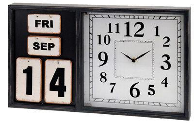 Wandklok met kalender