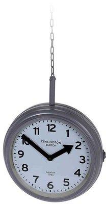Stationsklok hangend - 30cm - grijs