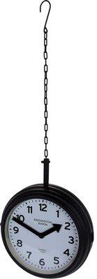 Stationsklok hangend - 30cm - zwart
