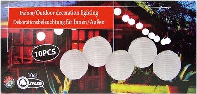 Feestverlichting - 10 grote LED lampionnen