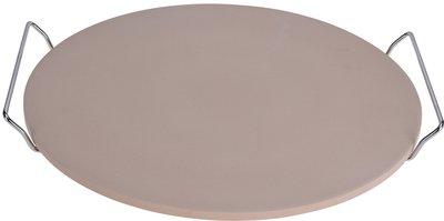 Pizza-baksteen 33cm met metalen houder