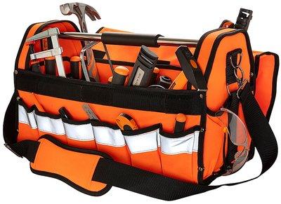 ToolPack Hi-Vis Robuuste gereedschapstas met metalen draagbeugel