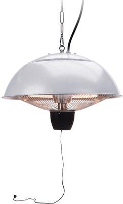 Terrasverwarmer hangend 1500W zilver