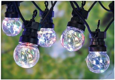 Feestverlichting 10 multicolor-lamps - 50 LED's - 5 cm
