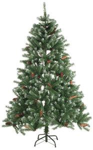 Kerstboom 210cm 1024 tips met sneeuw en dennenappels