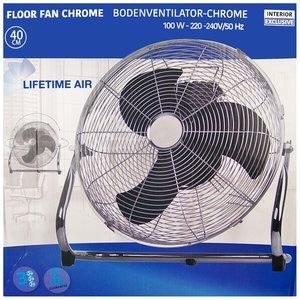 Vloerventilator chroom - Ø40cm